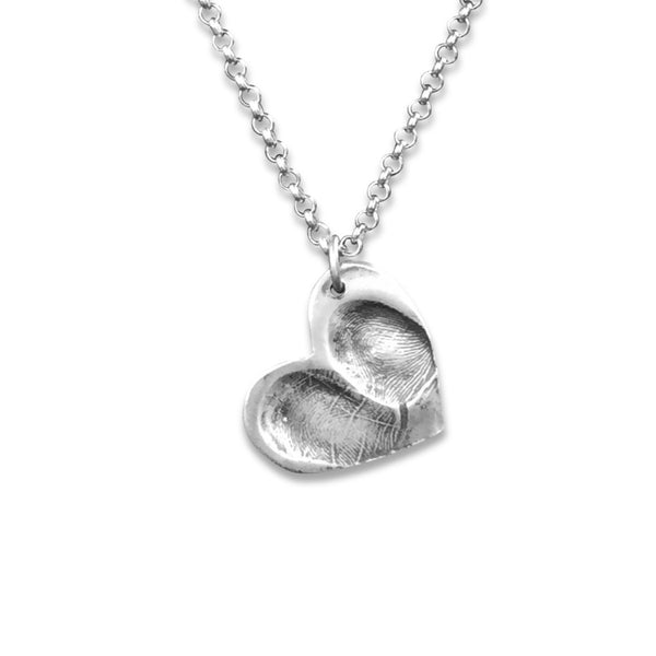 Large Heart Fingerprint Pendant