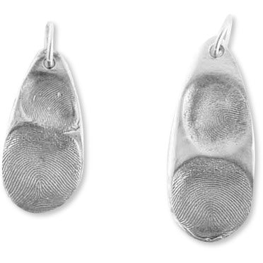 Sway Silver Fingerprint Pendants Small & Large Teardrops