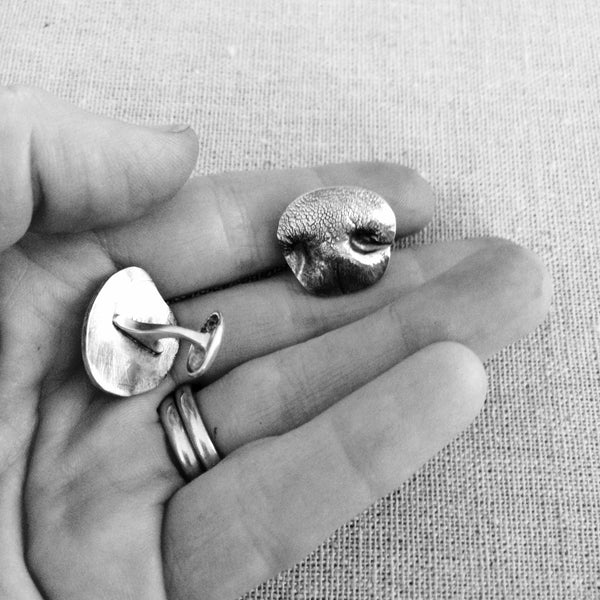 Sway Silver Canadian Dog Nose Jewellery - dog nose cufflinks