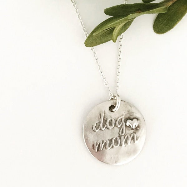 Dog Mom Necklace by Sway Silver