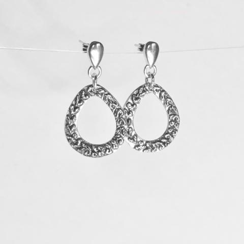 Laurel Sterling Silver Drop Earrings - Sway Silver