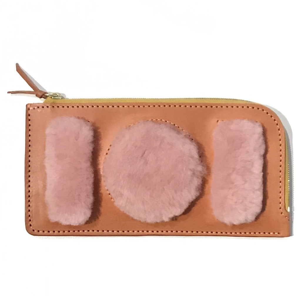 FUR LONG ZIP WALLET