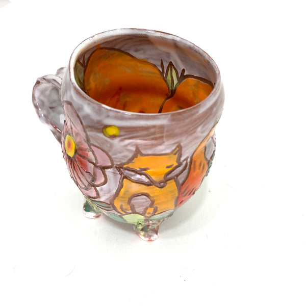 FOX IN THE FLOWERS MUG