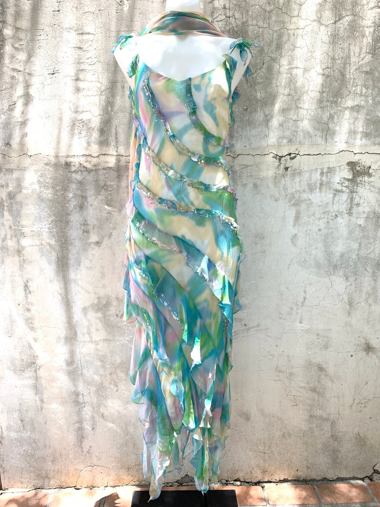 Blue Waters Dress with Scarf