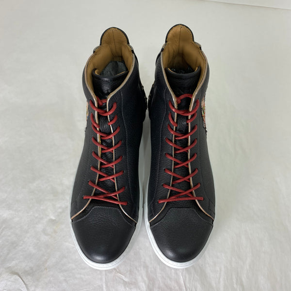 MEM'S MUYUKA BLACK LEATHER HIGHTOP