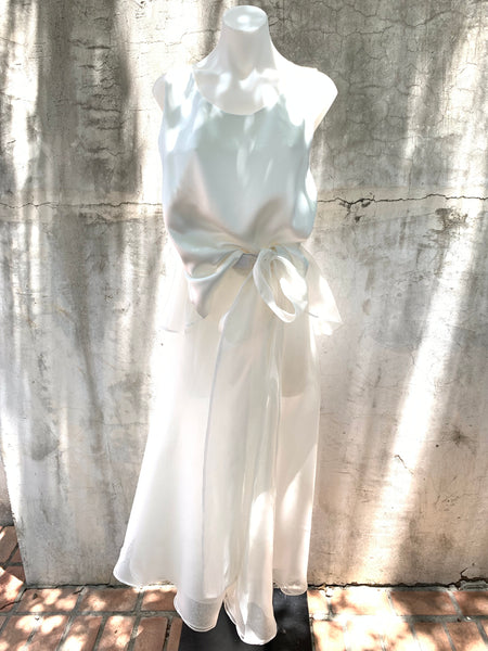 TAYLOR TANK IN TISSUE SILK ORGANZA AND SATIN