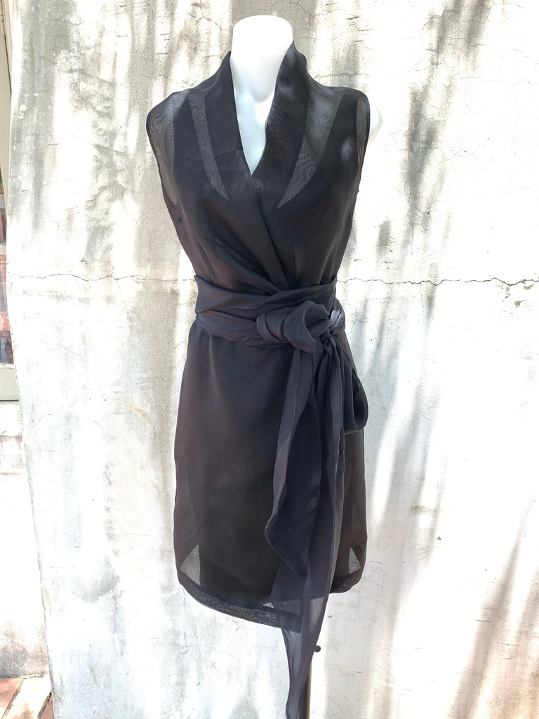 COCO ORGANZA DRESS IN BLACK