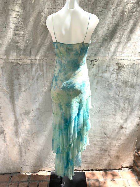 MINTY BLUE SPAGHETTI STRAP DRESS