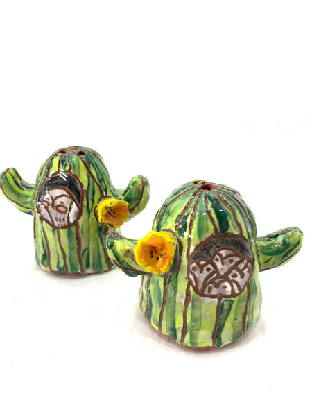 MAMA OWL AND BABY OWL CACTUS SHAKERS