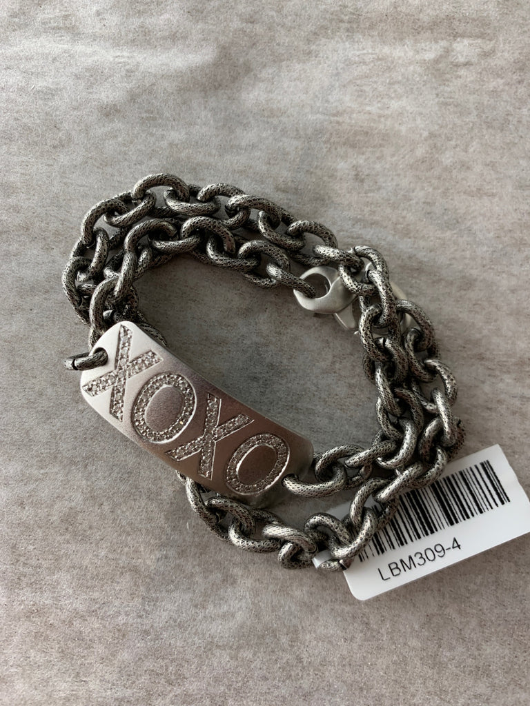 XOXO ID BRACELET W/ DIAMONDS