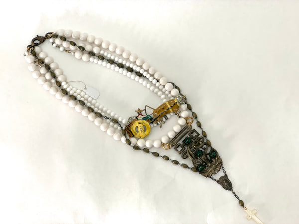 CAMPESINO AND ROSARY NECKLACE
