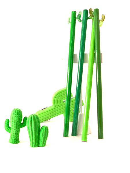 CACTUS PENCILS, SET OF FOUR