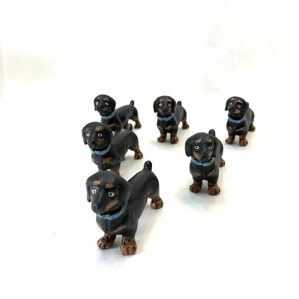 TINY CAST IRON DACHSUND