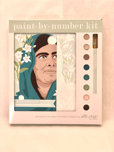 MALALA WITH JASMINE PAINT BY NUMBER