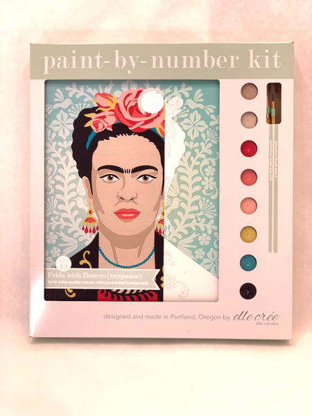TURQUOISE FRIDA PAINT BY NUMBER