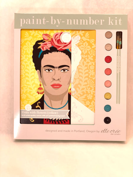 YELLOW FRIDAY KAHLO PAINT BY NUMBER