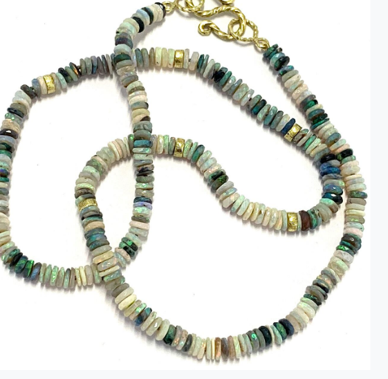 OPAL DISC BEAD NECKLACE