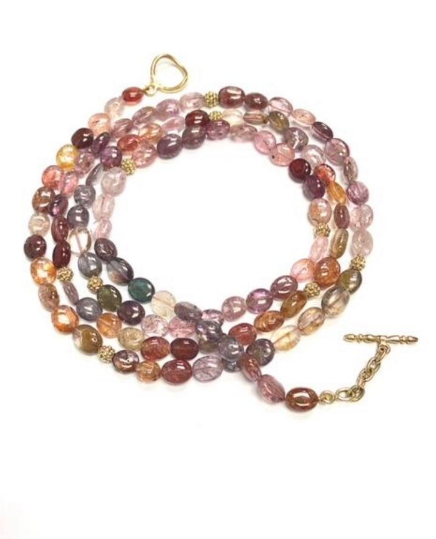 SMOOTH MULTI-COLORED SPINEL NECKLACE