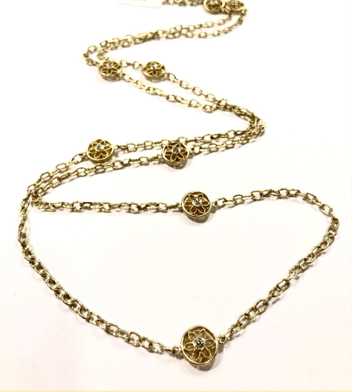 HELENA GOLD FLORETTE NECKLACE