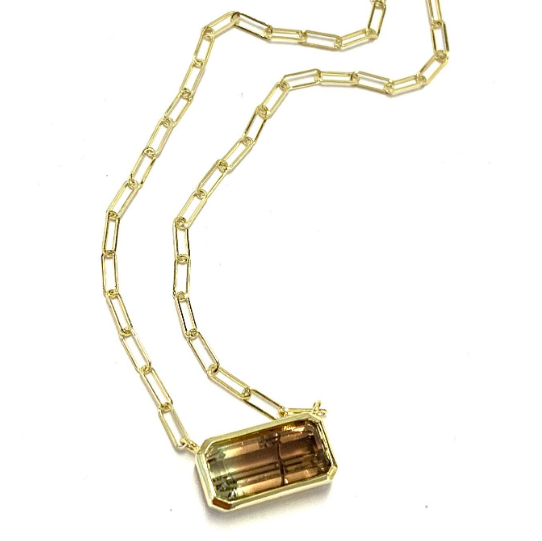 AUTUMN TONE BICOLOR TOURMALINE NECKLACE