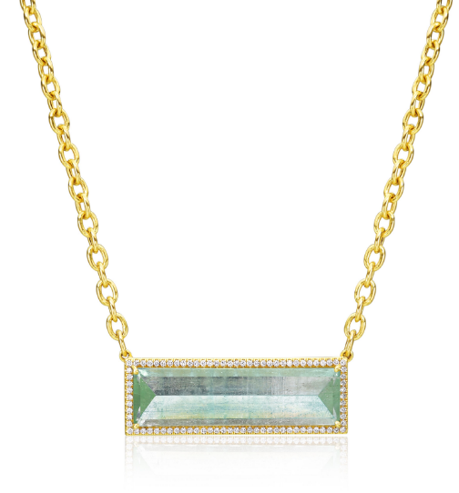GREEN BERYL PENDANT NECKLACE