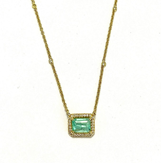 MINT GREEN COLOMBIAN EMERALD NECKLACE