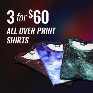 3 for $60 All Over Print Shirts