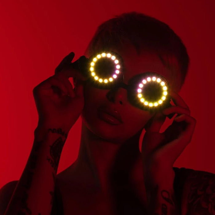 Pixel Pro LED Goggles-Model-Light up