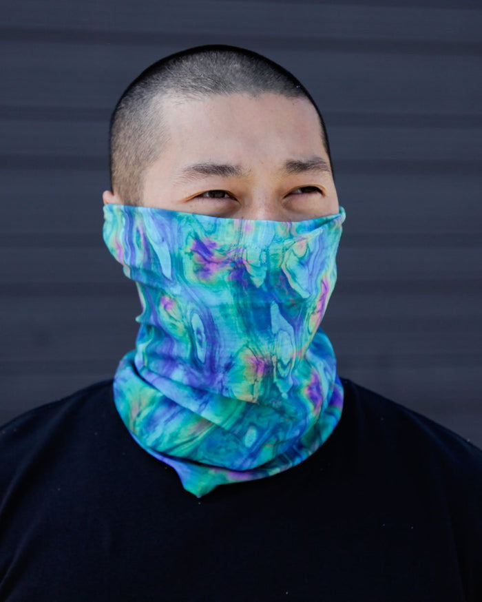 Acid Lagoon Seamless Mask Bandana-Lifestyle3