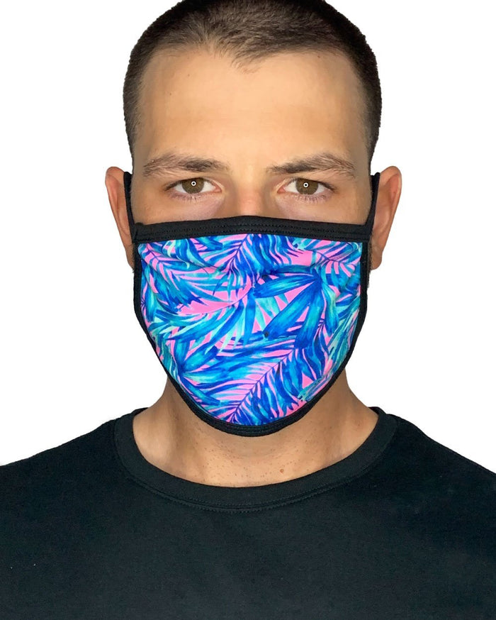 Aquatic Jungle Face Mask-Male-Front