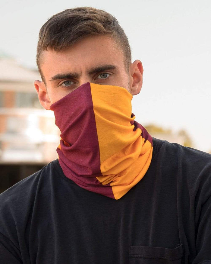 Burgundy and Gold Mask Bandana-Male-Lifestyle