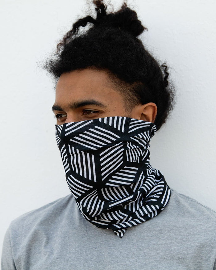 Cubed Illusions Seamless Mask Bandana-Lifestyle