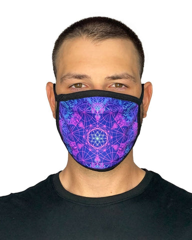 Flower of Life Face Mask-Male-Front