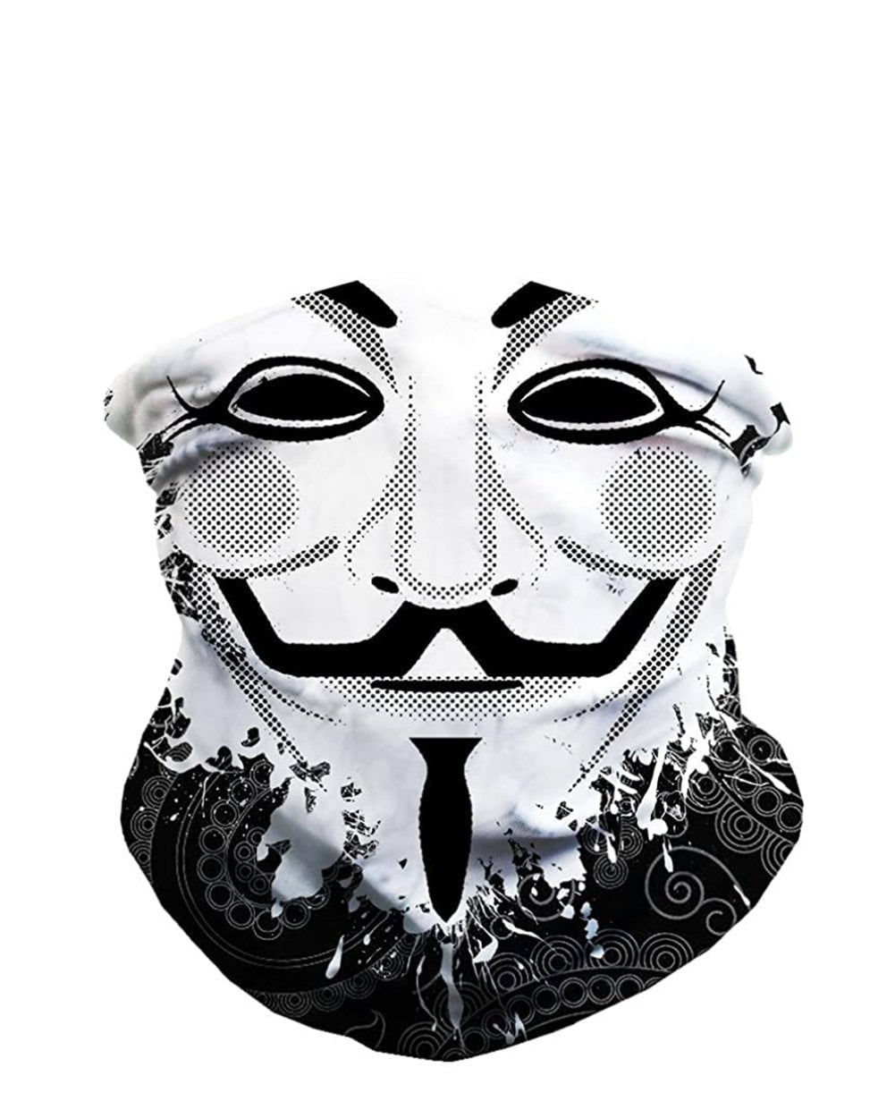 Guy Fawkes Seamless Mask Bandana-front