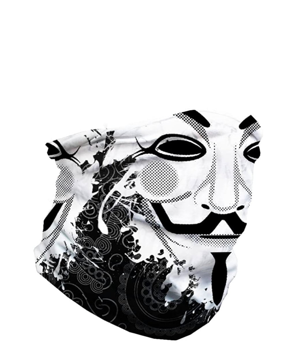 Guy Fawkes Seamless Mask Bandana-side