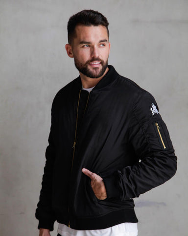 Midweight Bomber-Black-Front--Zach---L