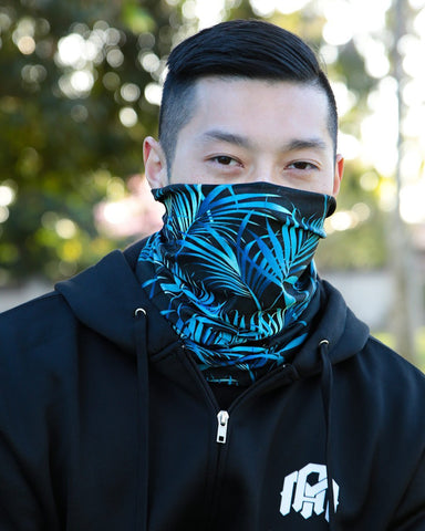 Midnight Jungle Seamless Mask Bandana-Lifestyle