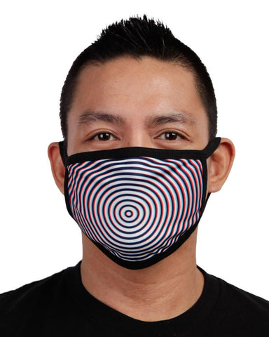Optical Illusion Face Mask-Front