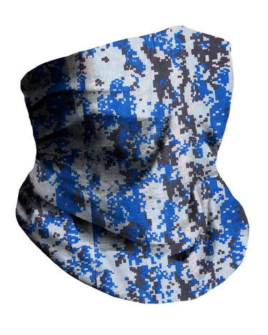 Digi Blue Camo Seamless Mask Bandana-Side