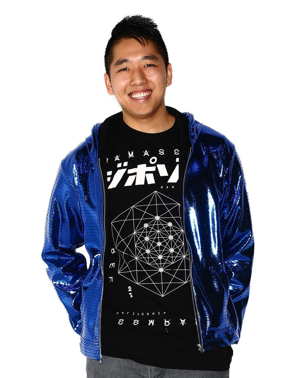 Electric Styles Light Up Electro Hoodie - Blue