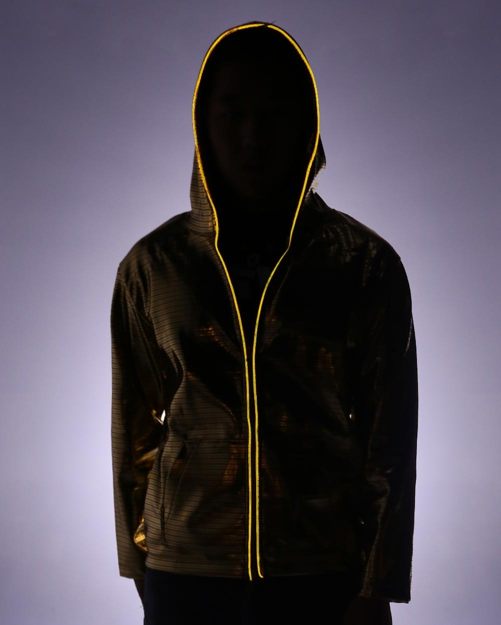 Electric Styles Light Up Electro Hoodie - Gold
