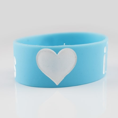 iHeartRaves Wristband for Music Festivals and Raves  - Blue 1