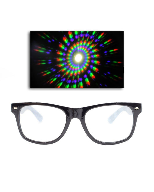Spiral Diffraction Glasses Cover Image - Black