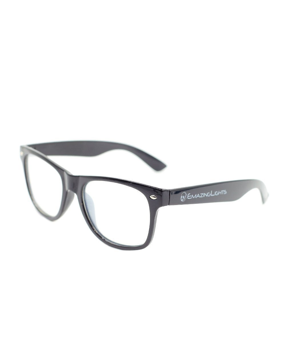 Spiral Diffraction Glasses - Black