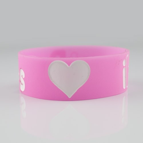 iHeartRaves Wristband for Music Festivals and Raves  - Pink 1