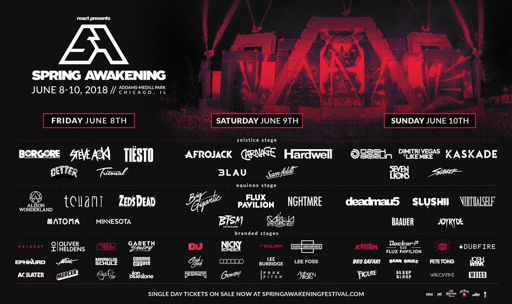 Kick off Festival Season at Spring Awakening Music Festival 2018