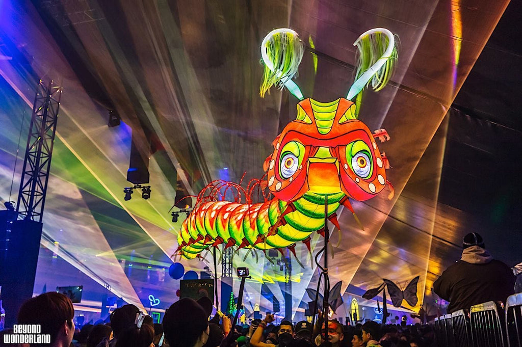 Beyond Wonderland Art Installation: Giant Caterpillar