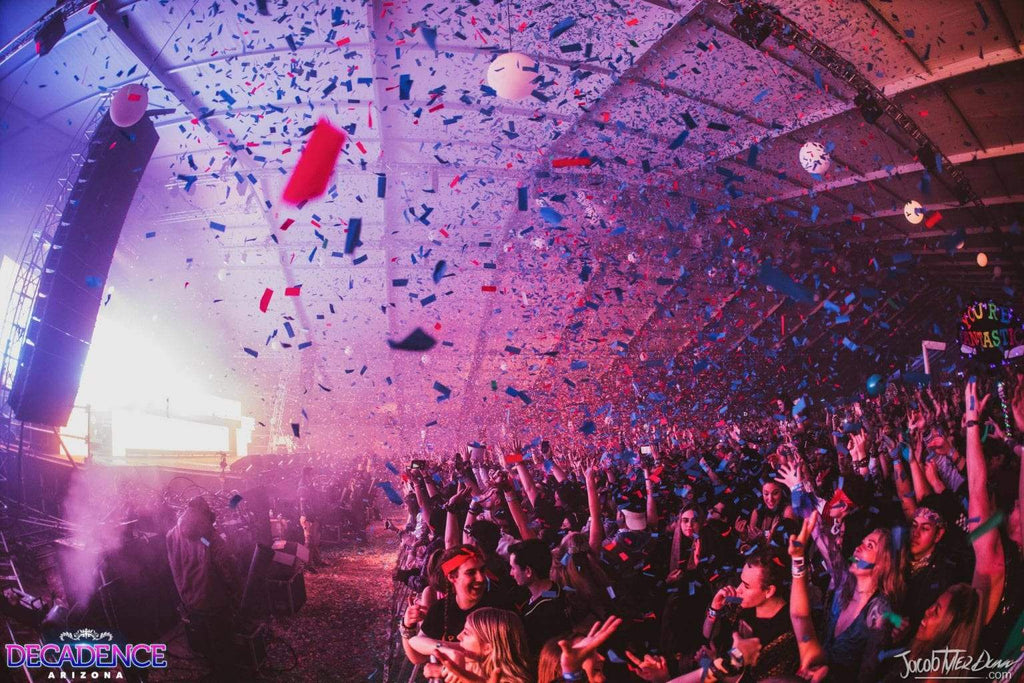 Decadence Arizona Confetti Dropping