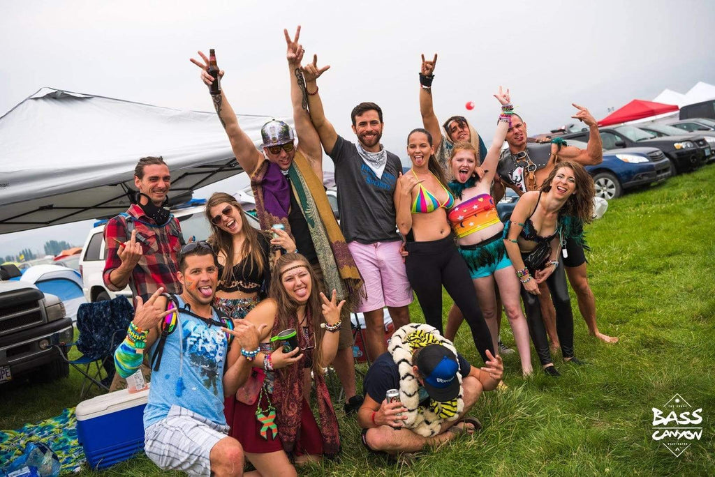 Headbangers at Bass Canyon at the Gorge