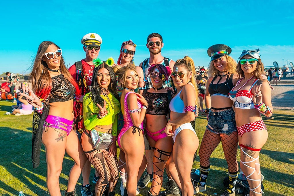 Ravers at Phoenix Lights Festival 2018 in Chandler, Arizona